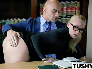 TUSHY bodacious AJ Applegate penalized By Her boss