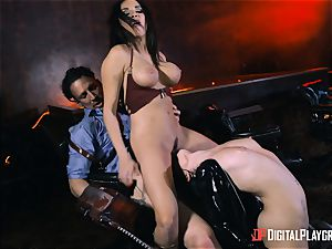 Rina Ellis and Anissa Kate vagina poking parody