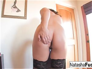 Natasha plows Her backside With a Purple plaything