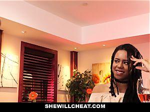 SheWillCheat - cuckold wifey fucks bbc in shower