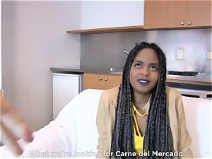 CARNE DEL MERCADO - ebony Latina Ana Ebano pummeled deep
