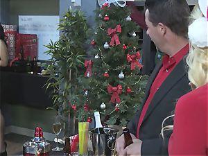 Stormy Daniels fake penis plows Asa Akira in front of her husband