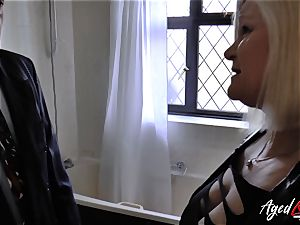 AgedLovE Lacey Starr drilled stiff with Sales Agent