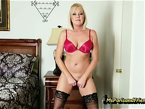 fill Up the Strippers wide open twat with Ms Paris Rose