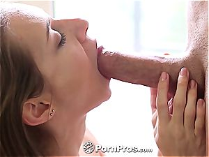 splendid Cassidy Klein bouncing on knob