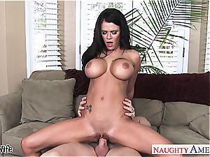 big-boobed wife Peta Jensen take chisel
