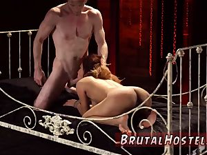 rope restrain bondage and tough outdoor Her sexual abasement resumes as he binds her little legs
