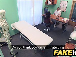 faux polyclinic bashful dark haired has explosive orgasms