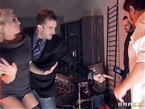 blond Bailey Blue caught and fucked
