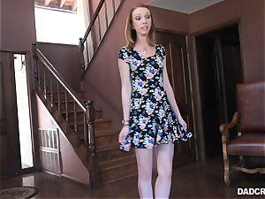 Ginger teenage Katy smooch fellating trouser snake