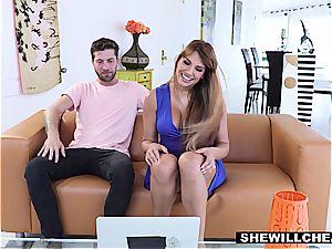 SheWillCheat - fortunate Kid plumbs steamy Latina milf