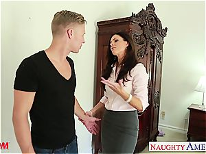 beautiful India Summer gets jism busted on her hairless fuckbox