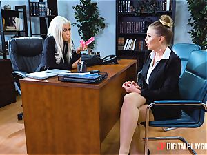 honeypot tryouts in the office with Bridgette B and Britney Amber