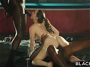 BLACKED Tori black Is greased Up And predominated By 2 BBCs