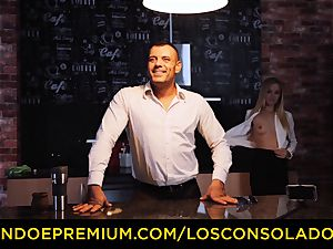 LOS CONSOLADORES - Hungarian blondie gets pounded pov