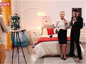 LETSDOEIT insatiable Artist fucks molten Spanish couple