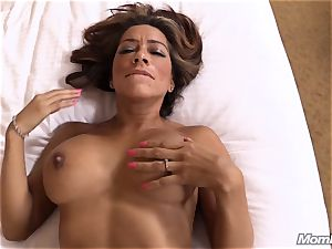 super hot Latina amateur milf first-ever timer