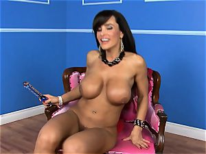 mind-blowing Lisa Ann tucks her faux-cock deep in her humid cooter
