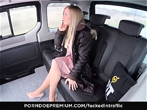 torn up IN TRAFFIC - cum on ass for mischievous slim blond