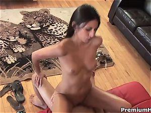 super-steamy Nikki Daniels gets her bald twat beaten
