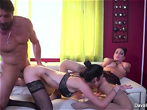 Dava gets caught with a married dame & does them both