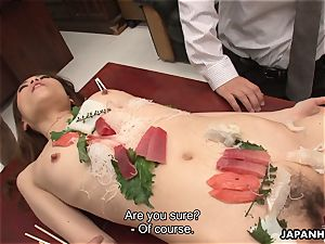 chinese babe is porked like a salad