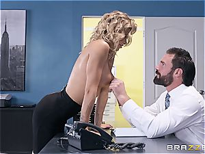 exceptionally super-fucking-hot session with a chesty light-haired assistant