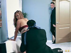 Office hoe Nicole gets her hungry slot dual fucked