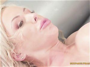Nina Elle Gives perfect Nuru rubdown With fuck-fest