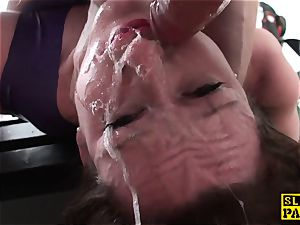 british domme predominated and made to gargle