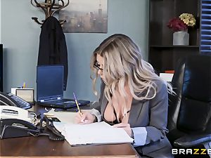 Karma Rx takes snatch plumbed in the office