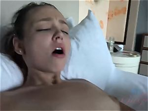 Emily Cash Takes a humungous stream of jizz in Her cooter