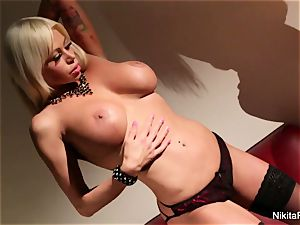 steamy milf Nikita Von James teases and frigs her puss