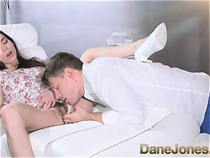 Dane Jones wooly cunny brown-haired in milky undies