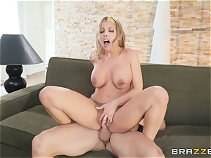 Britney Amber taking cum on her face
