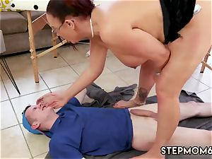 mommy teaches crony ally and playfellow s daughter-in-law hump meaty bap Step-Mom Gets a rubdown