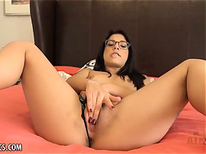 Gina Valentina can scarcely contain her masturbation