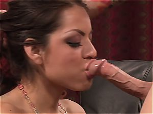 meaty knocker Yurizan railing salami on the bed