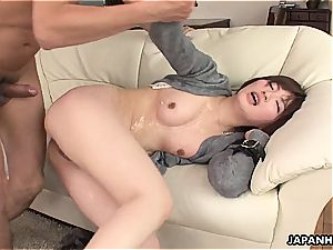 hotwife japanese wifey drilled in a wet session