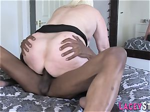 grandmother Gets Her Pretty rump plumbed by ebony chisel