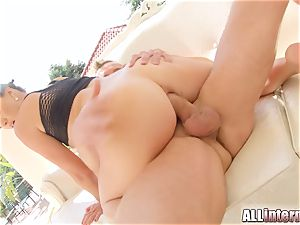 All inward Tiffany damsel anal invasion pop-shot action