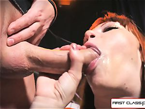 first Class point of view - Alexa Nova blowing a big dick in pov