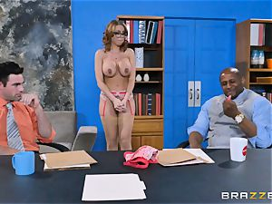 Britney Amber getting group pummeled