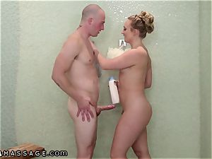 NuruMassage My finest buddies phat ass white girl sista Showered Me