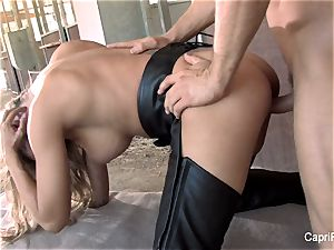 Capri Cavanni blows and drills