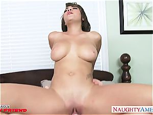 classy Cassidy Banks has superb tits and smashes like a pro