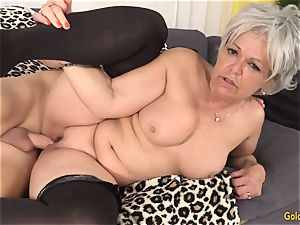 grandma Kelly Leigh Is insatiable for a sausage