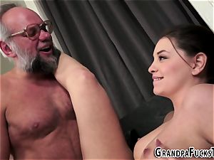 tatted stunner rides granddad