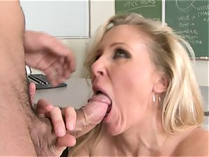 Julia Ann is a hard-core cougar who wants to put her honeypot on a rigid boner