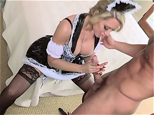 super-hot maid Capri Cavanni gives her chief some extras
